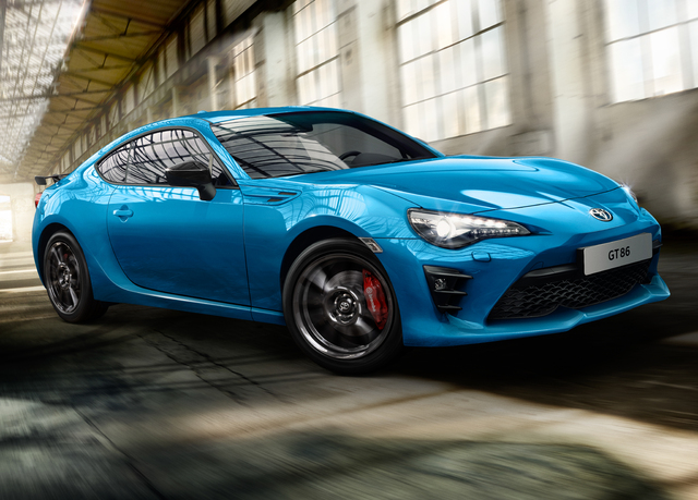 2018 Toyota GT86 Club Series Blue Edition - front, driving, warehouse
