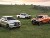 L-R Toyota HiLux Rogue, Rugged, Rugged X
