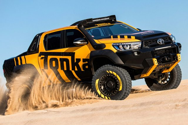 2017 Toyota HiLux Tonka Concept - front, sand dune