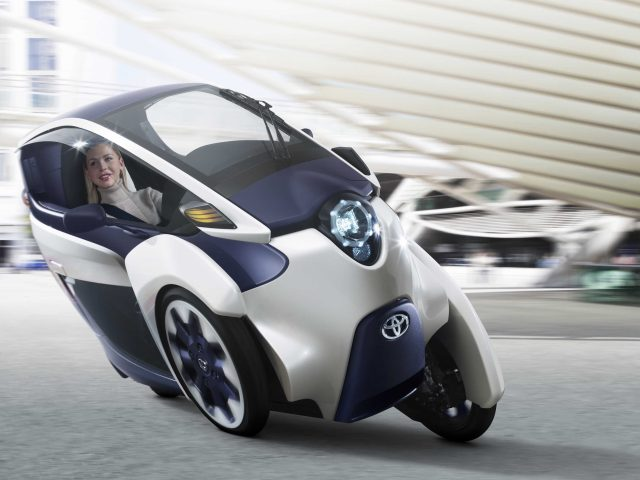 Toyota i-Road concept - front, lean, action