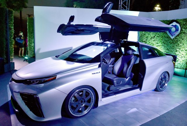 Toyota Mirai Back To The Future Time Machine concept - front