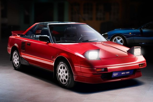 1989 Toyota MR2 - front, red