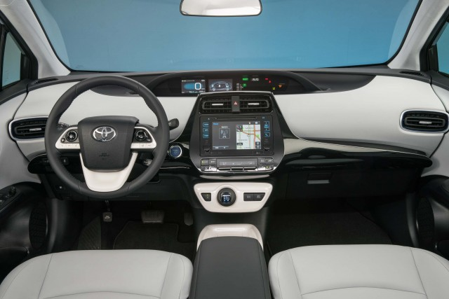 XW40 Toyota Prius (MY2016) - interior, two tone, dashboard, white leather