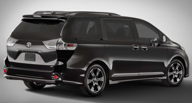 2018 Toyota Sienna SE - rear, gray