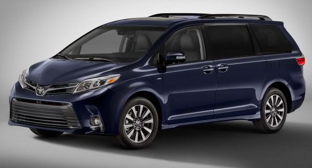 2018 Toyota Sienna Limited - front, blue