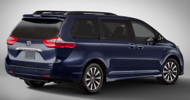 2018 Toyota Sienna Limited - rear, blue