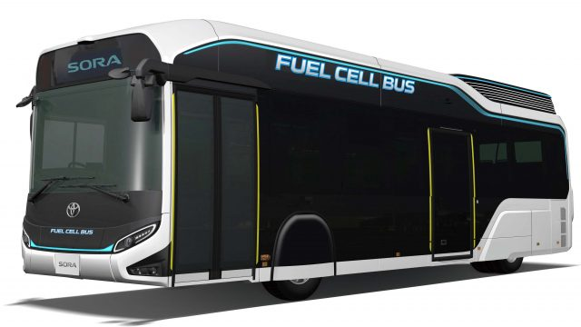 Toyota Sora fuel-cell bus concept - front