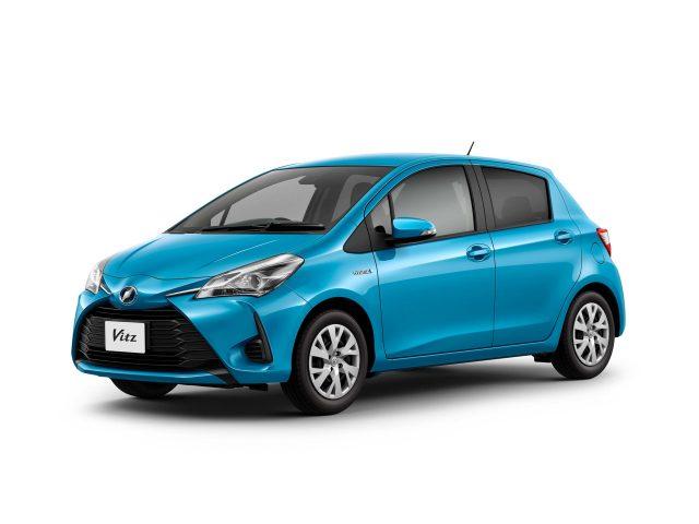 2017 Toyota Vitz Hybrid (XP130) - front, blue