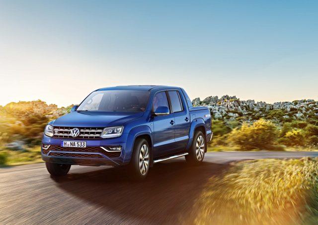 2016 Volkswagen Amarok facelift - front, blue, V6 TDI