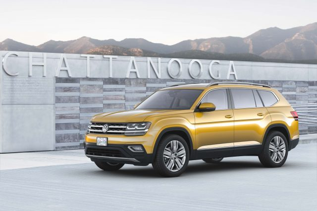 2018 Volkswagen Atlas - front, orange/yellow