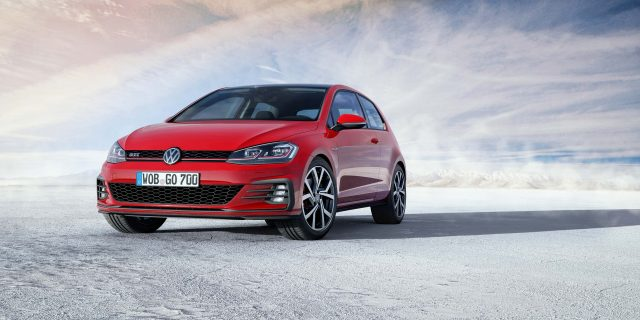 Mark 7.5 Volkswagen Golf GTI - front, red