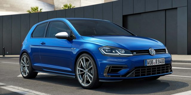2017 Volkswagen Golf R facelift - 3-door hatch, front