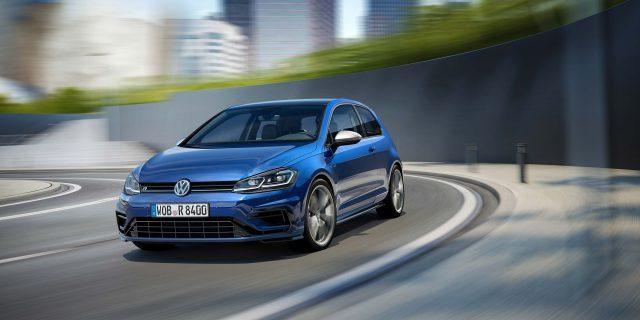 2017 Volkswagen Golf R facelift - 3-door hatch, front, action