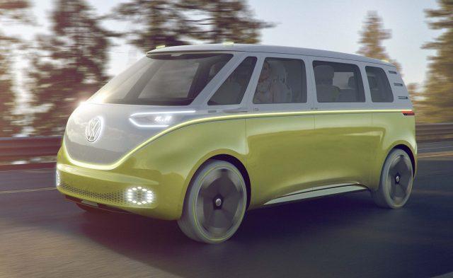 Volkswagen ID Buzz concept - front, yellow