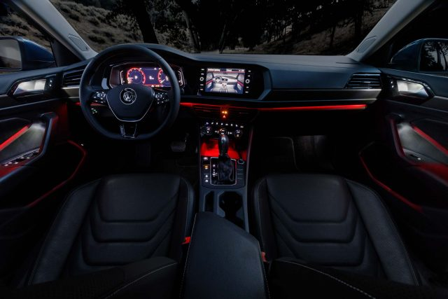 2019 Volkswagen Jetta - configurable ambient lighting (red)