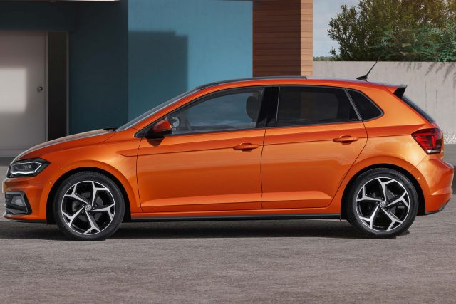 Volkswagen Polo Mark VI - orange, side