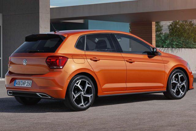 Volkswagen Polo Mark VI - orange, rear