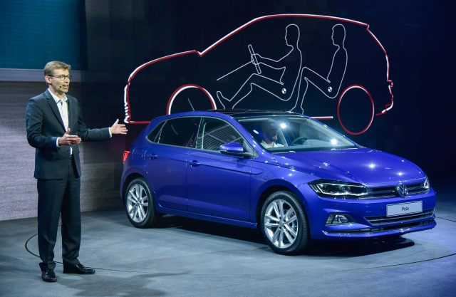 Volkswagen Polo Mark VI - on stage, launch