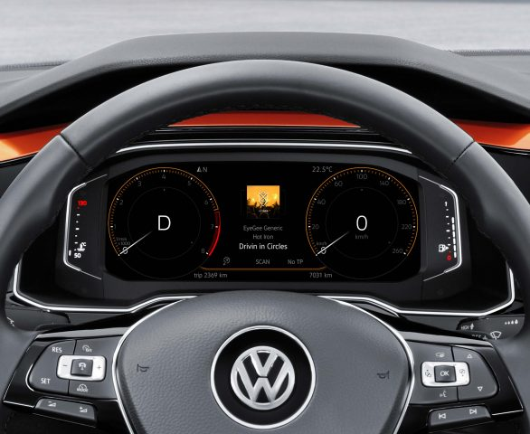 Volkswagen Polo Mark VI - digital instrument screen