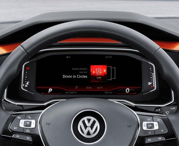 Volkswagen Polo Mark VI - digital instrument screen