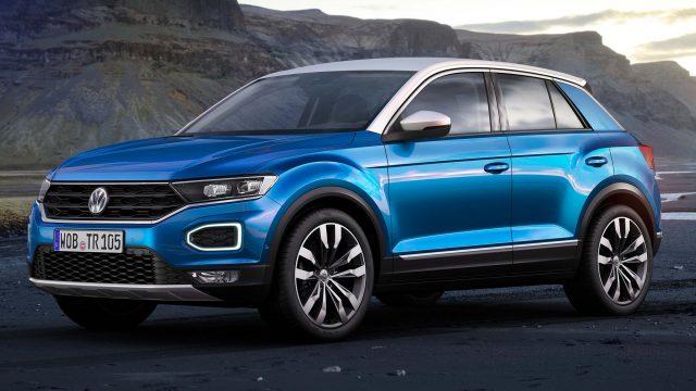 2017 Volkswagen T-Roc - front, blue