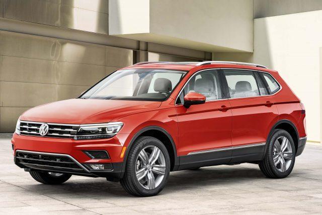 2018 Volkswagen Tiguan LWB - front, red