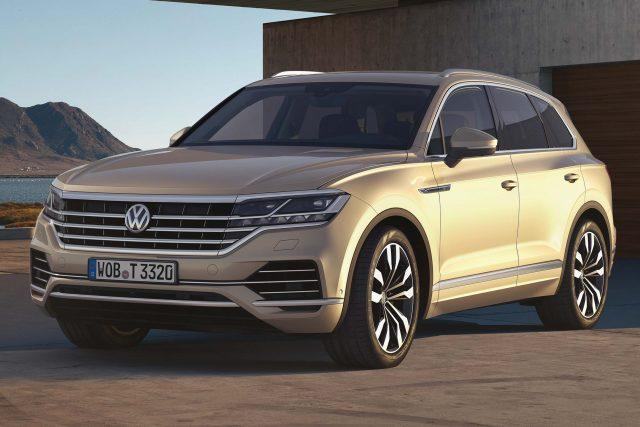 2018 Volkswagen Touareg - front, white