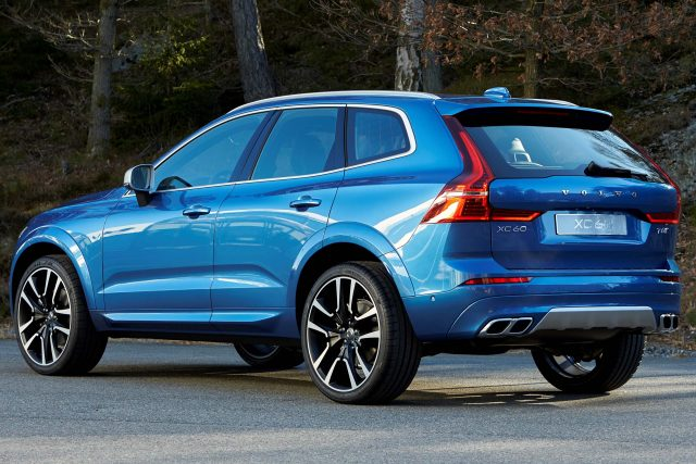 2018 Volvo XC60 R-Design - rear, blue